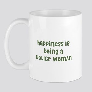 Happiness is being a POLICE W Mug